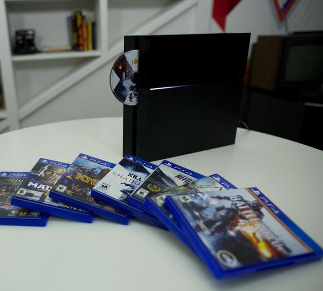 la playstation 4 avec des jeux
