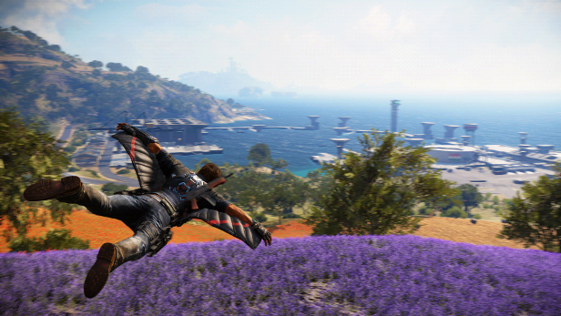 Just Cause 3 champ de lavande